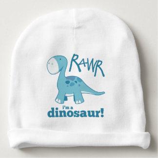 RAWR soy un Diplodocus azul lindo del dinosaurio Gorrito Para Bebe