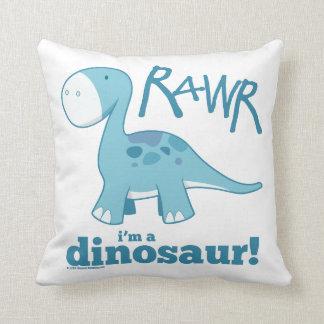 RAWR soy una almohada de tiro del dinosaurio