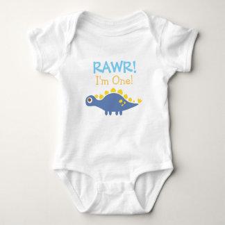Rawr, soy uno, dinosaurio lindo para los bebés remeras