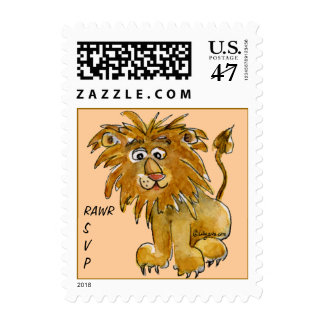 Rawr SVP Cute Lion Postage