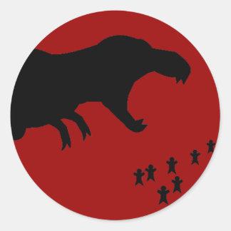 Rawr! T-Rex Classic Round Sticker