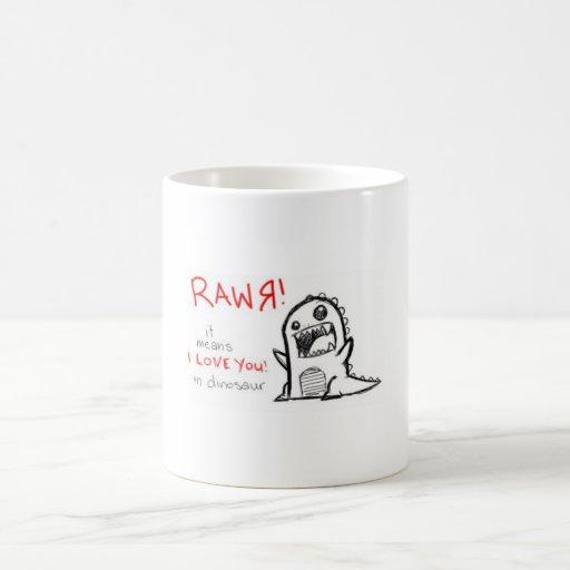 RAWR TAZAS DE CAFÉ