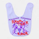 Rawr Tiger Rawr Cute Cartoon Cat Baby Bib