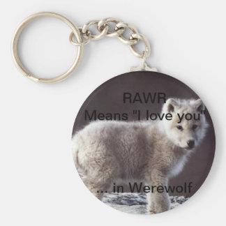 RAWR wolf keychain