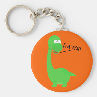 Rawrosaur Dinosaur Basic Round Button Keychain
