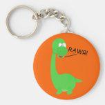 Rawrosaur Dinosaur Keychains