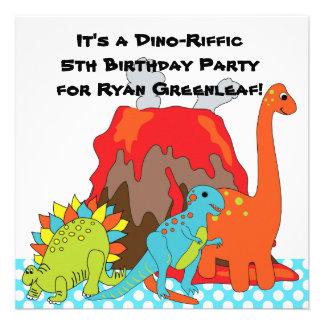 RAWRRR Dinosaur Birthday Party Invitations
