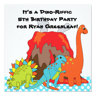RAWRRR Dinosaur Dino Birthday Party Invitations