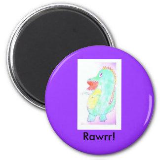 rawrrrr 2 inch round magnet