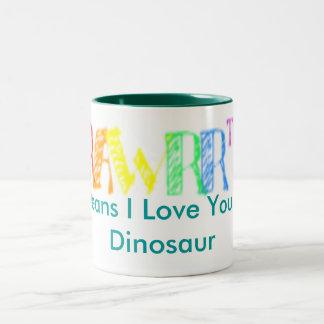 rawrzz, Means I Love You in Dinosaur Mug