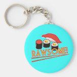 Rawsome! Basic Round Button Keychain