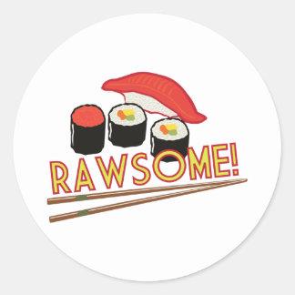 ¡Rawsome! Etiqueta Redonda