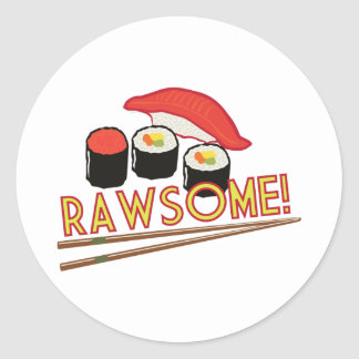 ¡Rawsome! Pegatina Redonda
