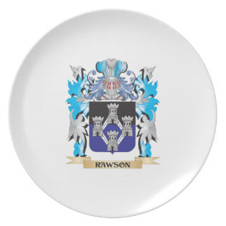 Rawson Coat of Arms - Family Crest Party Plates