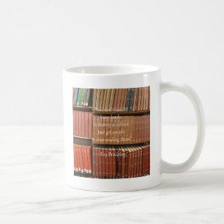 Ray Bradbury Quotation about Books Classic White Coffee Mug