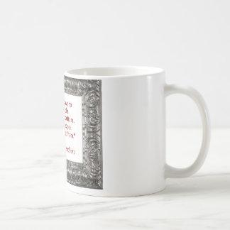 Ray Bradbury Quote About Burning Books Classic White Coffee Mug