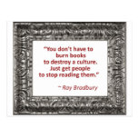 Ray Bradbury Quote About Burning Books Postcard