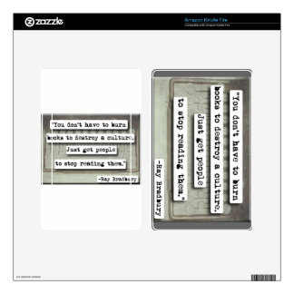Ray Bradbury quote on books Kindle Fire Skins