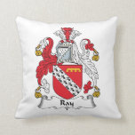 Ray Family Crest Throw Pillows