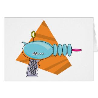 Ray Gun Greeting Card