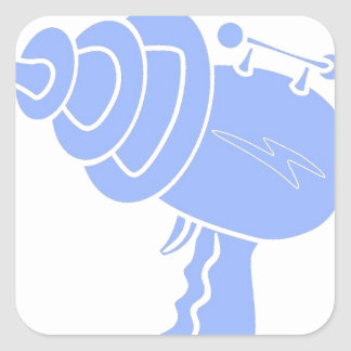 Ray Gun Square Sticker