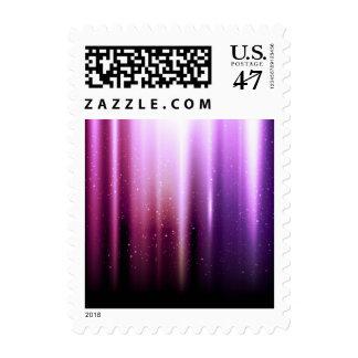 Ray of purple pink indigo color energy sparkle postage