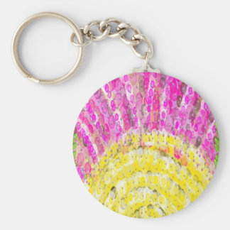 Ray Of Sunshine in Yellow and Fuchsia Key Chains