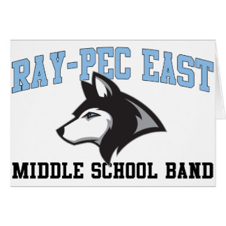Ray-Pec East Middle School Band Card