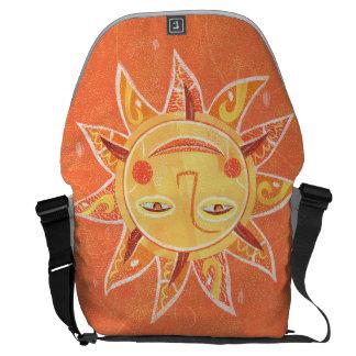 Ray Play Smiling Orange Sun Art Courier Bag