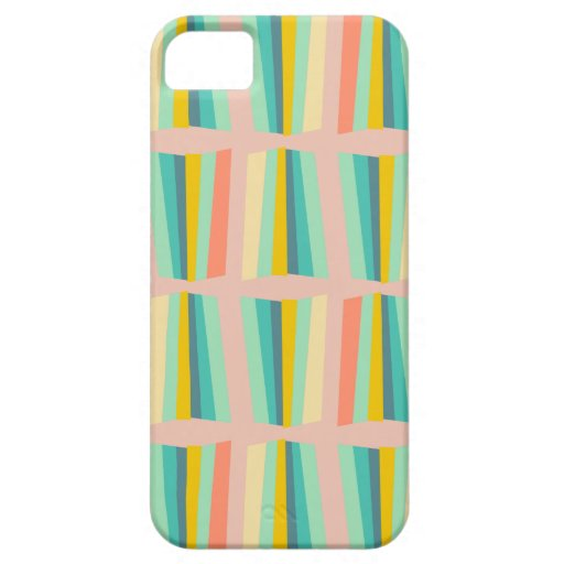 ray sweets mint teal sun ray on vintage rose iPhone 5/5S case