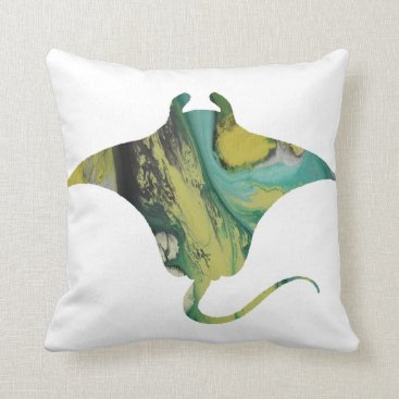 Beach Themed Ray Throw Pillow