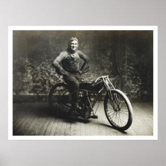 Ray Weishaar Winner 100 mi. Race [1914] Poster