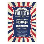 Raya 4ta del vintage del fiesta de julio invitacion personal
