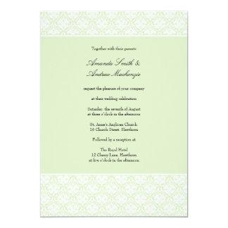 Raya 6 del damasco del ~ de la invitación del boda invitación 12,7 x 17,8 cm