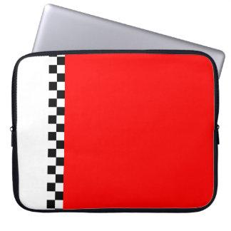 raya a cuadros roja fundas computadoras