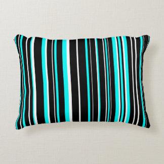 Raya adaptable del negro, del azul de la cojín decorativo