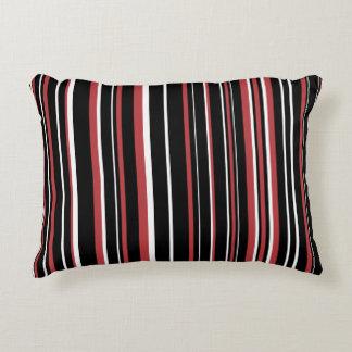 Raya adaptable del negro, del rojo de la aurora, y cojín decorativo