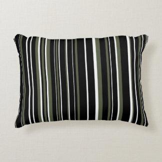 Raya adaptable del negro, del verde de Cypress, y Cojín Decorativo