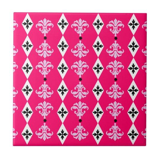 Raya adornada azulejo cuadrado pequeño