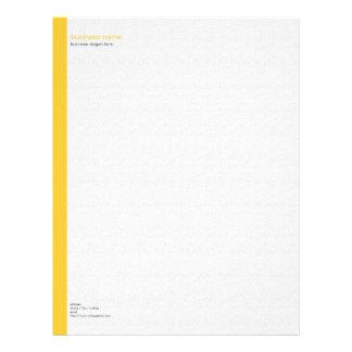 Raya amarilla simple moderna elegante llana en membretes personalizados