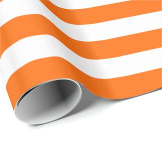 Raya anaranjada/blanca papel de regalo