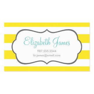 Raya ancha amarilla plantilla de tarjeta de visita