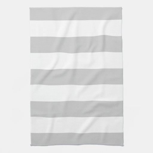 Raya ancha gris toalla de mano