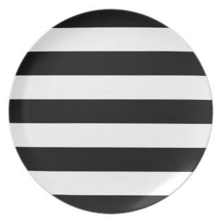 Raya ancha negra plato
