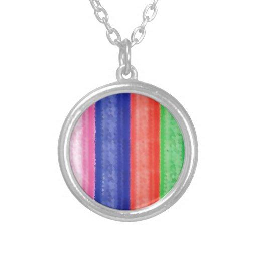 Raya ARTÍSTICA del arco iris Pendiente Personalizado