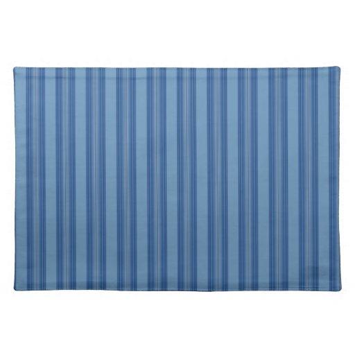 Raya azul amplia Placemat Mantel Individual