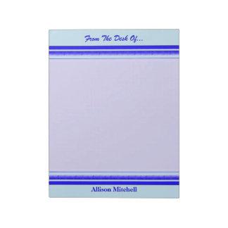 Raya azul brillante en negocio profesional en colo libreta para notas