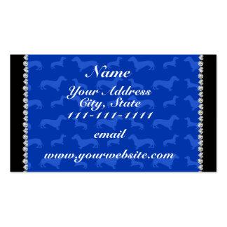 Raya azul conocida de encargo del corazón del tarjetas de visita