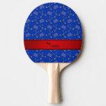 Raya azul conocida de encargo del rojo de los pala de ping pong