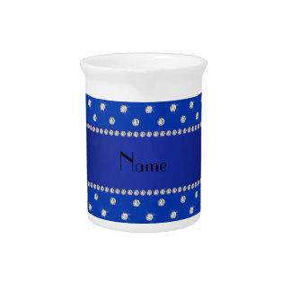 Raya azul conocida personalizada de los diamantes jarrón